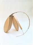 In our Own Image by irene bow, Sculpture, Fine birch ply, aluminium, seeds.