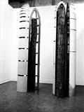Monuments to the Age by irene bow, Sculpture, Fine birch ply, aluminium, MDF.